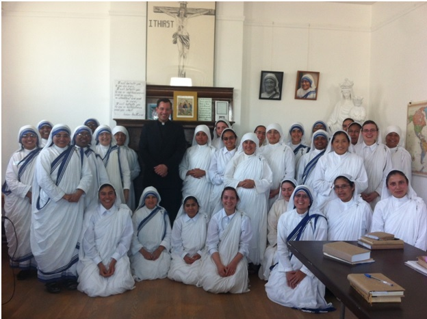 With the Missionaries of Charity