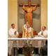P. Giuseppe Gamelli, LC, presiede la concelebrazione della S. Messa con P. Fernando Fabo, LC, e P. Francisco Elizalde, LC.