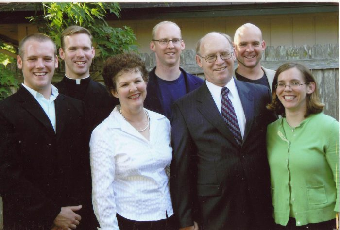 Fr. William with his family in Jacksonville, in May, 2007.