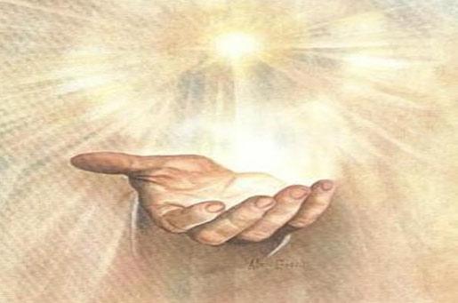 Mano de Dios en el cielo